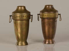 A Pair of Copper Urns with Brass from France ca.1910