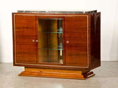 Art Deco Period Rosewood Buffet with Original Black Marble from France, c.1930