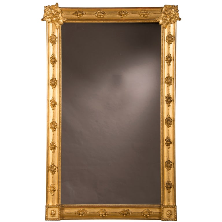 William kent style gilded frame mirror from england for Mirror frame styles