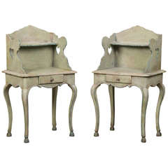 Pair Antique Italian Painted Side Tables circa 1850