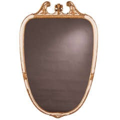 Vintage Italian Neoclassical Style Painted Mirror, circa 1940