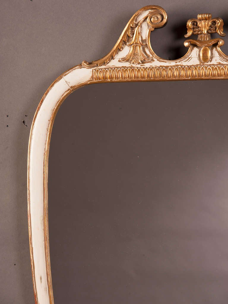 Mid-20th Century Vintage Italian Neoclassical Style Painted Mirror, circa 1940 For Sale