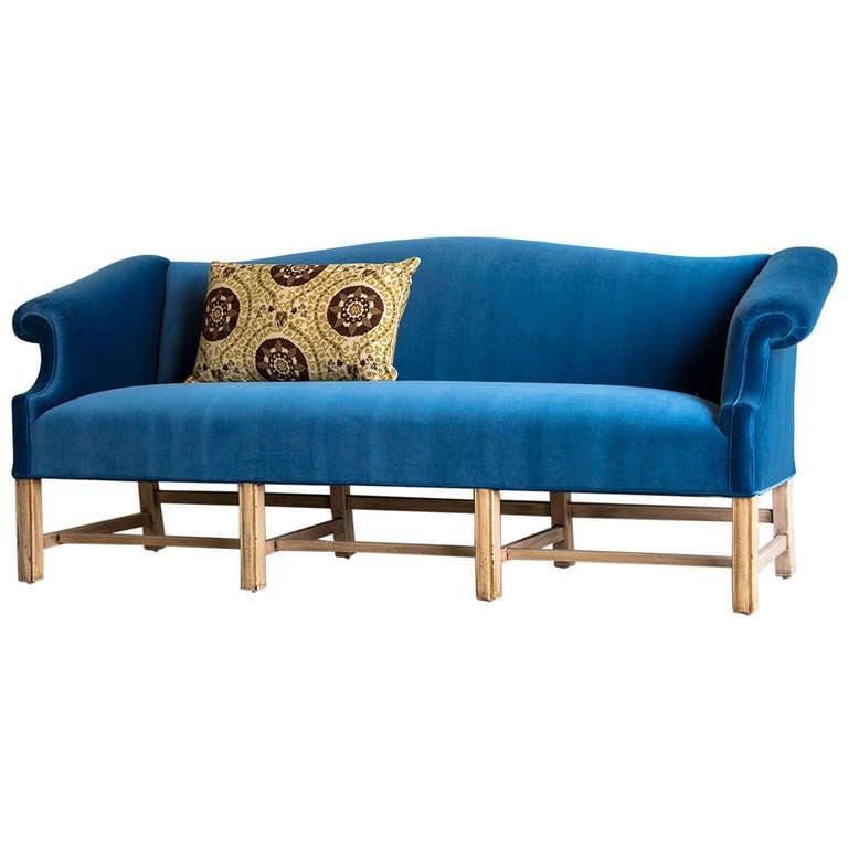 Antique English George III Style Mahogany Sofa, circa 1875