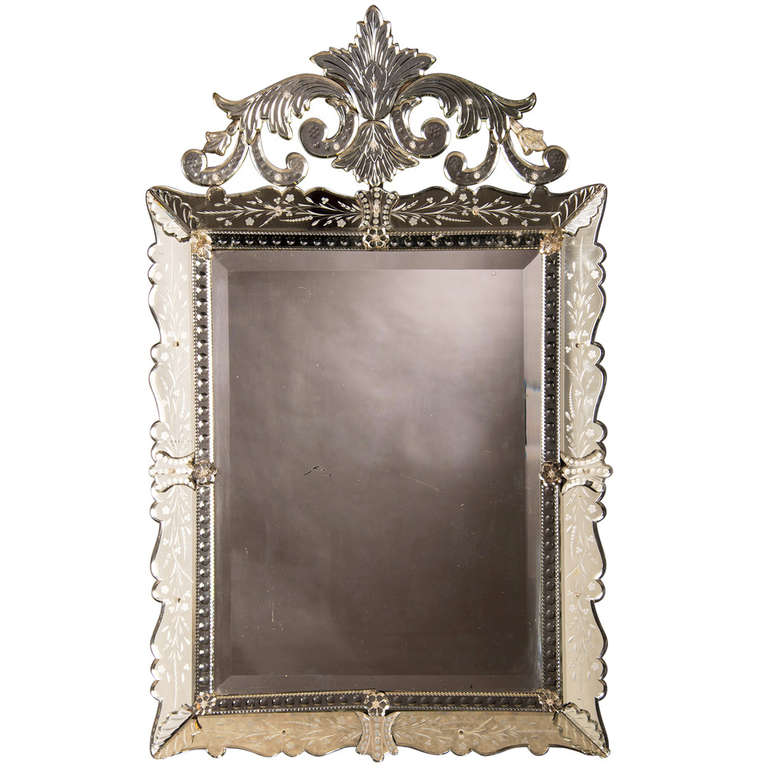 Venetian Mirror, Murano, Italy, circa 1890 at 1stdibs