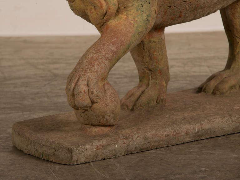 Antique English Lion Garden Stone Sculpture Southampton