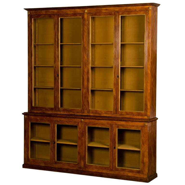 Neoclassical Painted And Gilded Bookcase From Italy