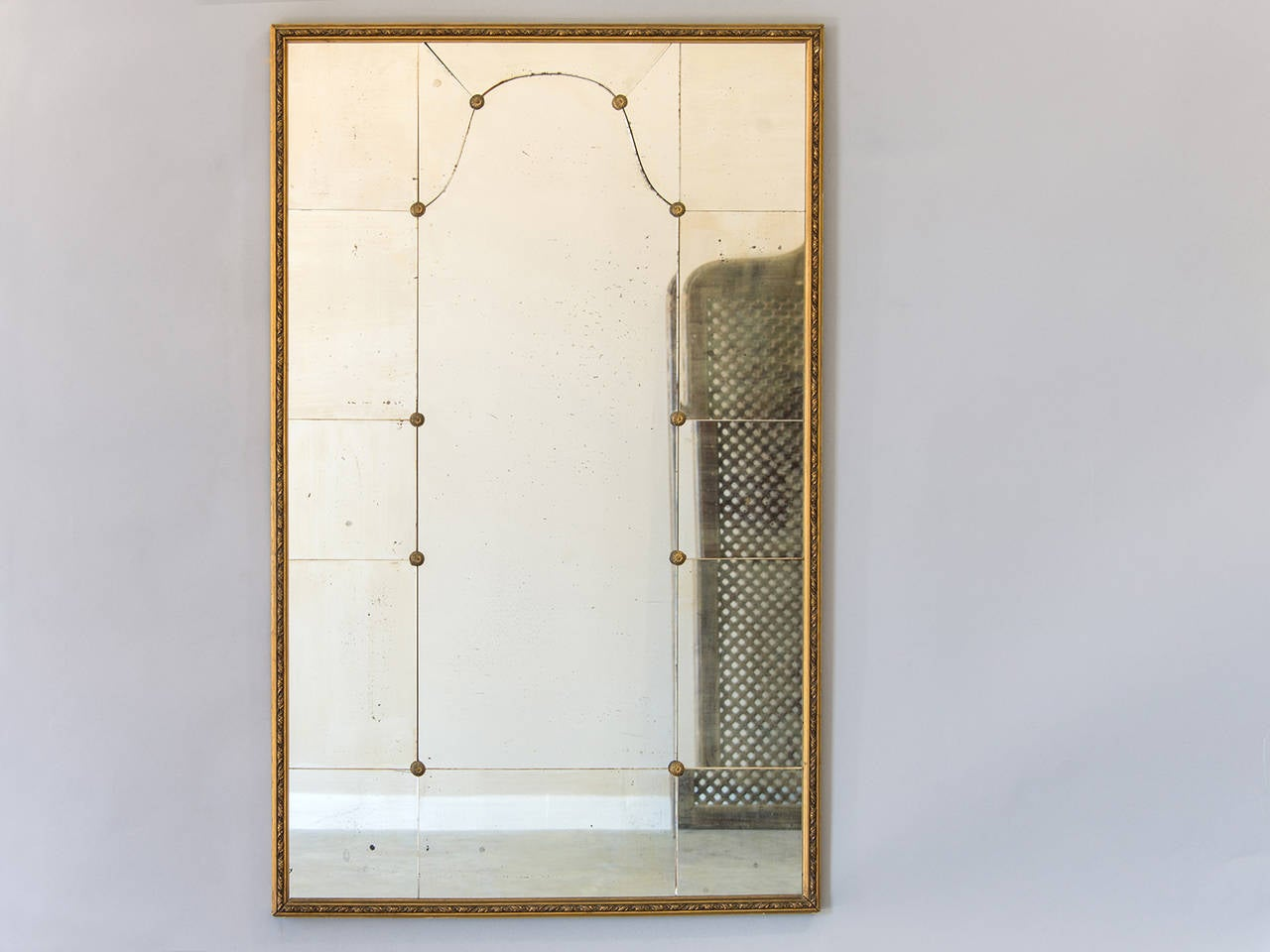 Vintage mid century gilt framed mirror france circa 1950 for Mirror 50 x 30