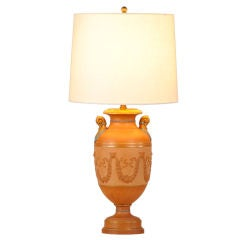 Antique Italian Neoclassical Terracotta Urn Now Mounted as a Lamp, circa 1880