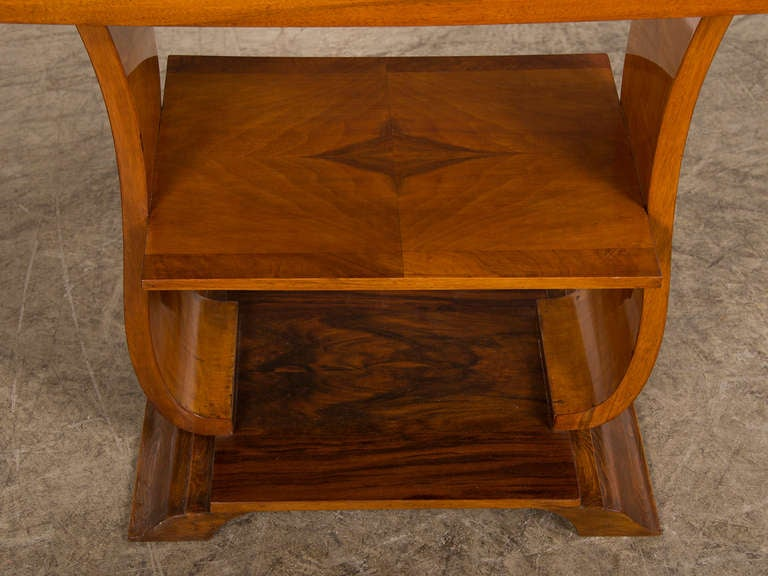 vintage french art deco period walnut side table paris. Black Bedroom Furniture Sets. Home Design Ideas