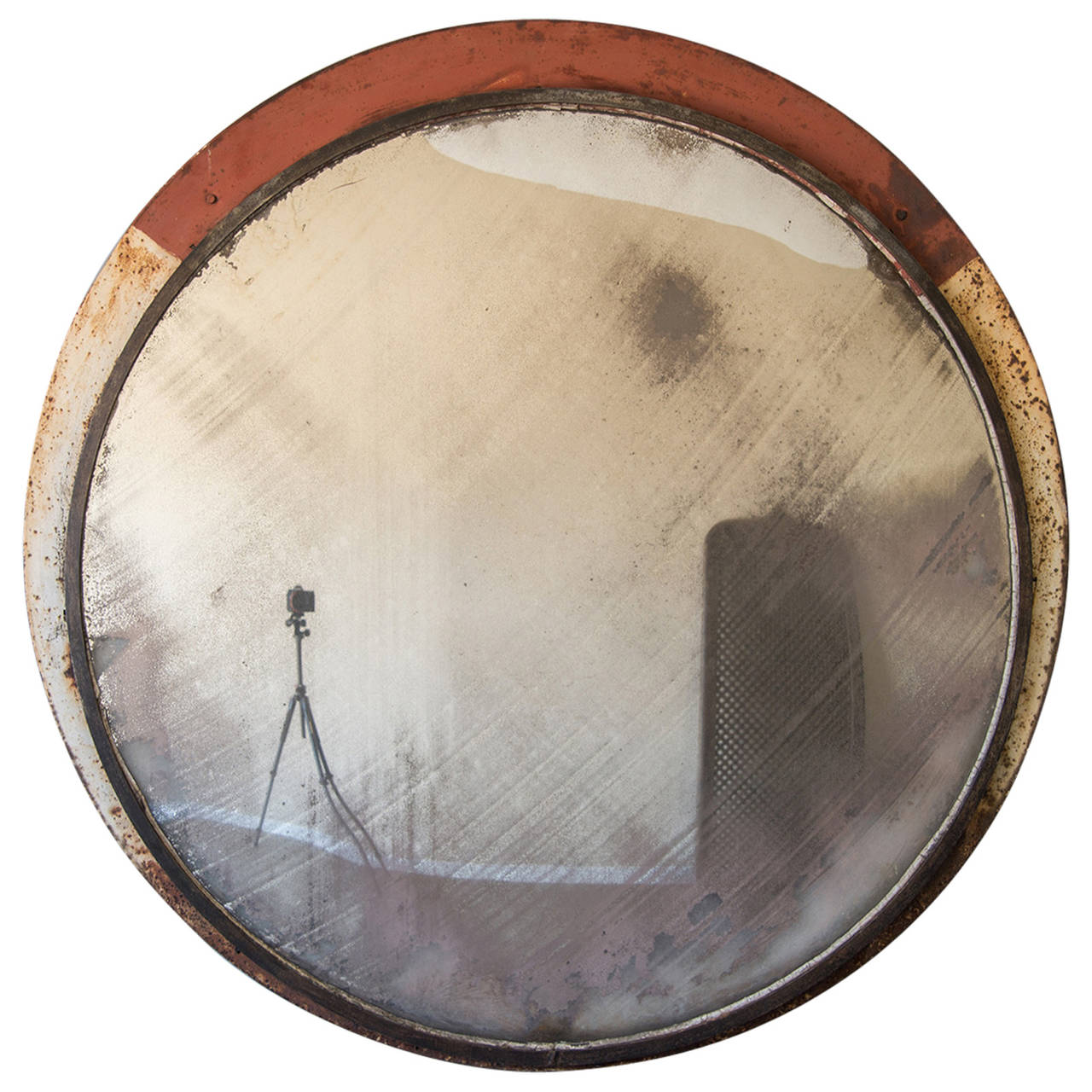Huge vintage railway convex mirror england circa 1930 53 for Convex mirror for home
