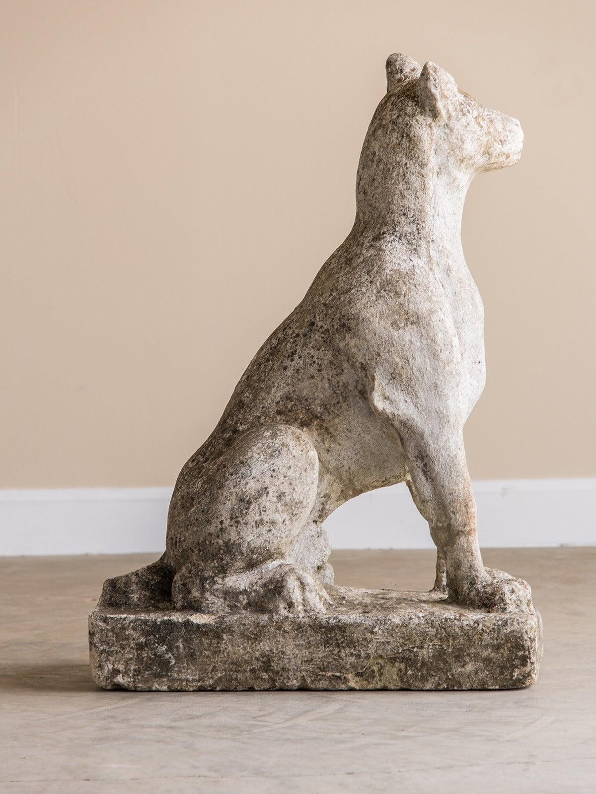 Old Garden Statue: Vintage Garden Statue Of A Dog, France Circa 1930 At 1stdibs