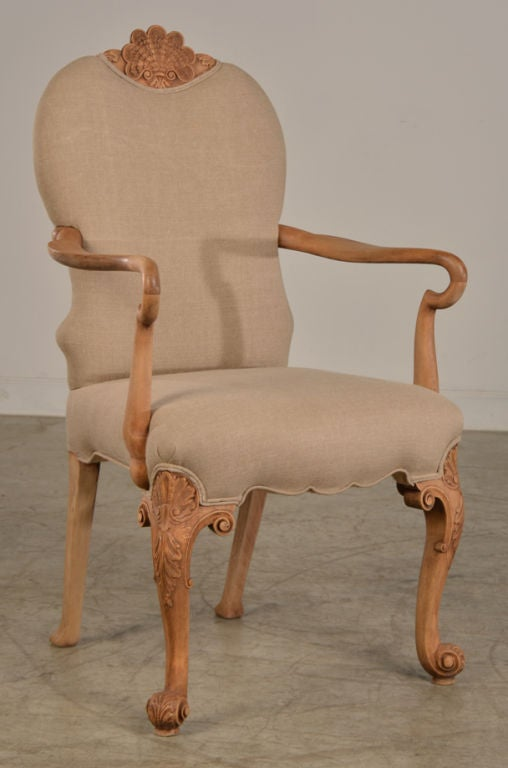 A Pair Of Queen Anne Style Armchairs From England C 1865 At 1stdibs