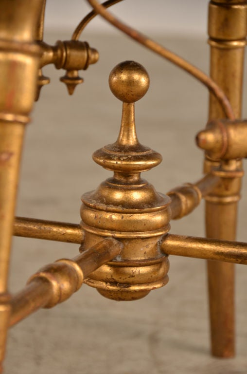 French Belle Epoque period gold leaf tabouret from France c. 1895 For Sale