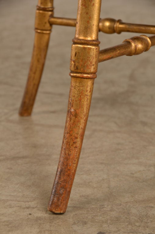19th Century Belle Epoque period gold leaf tabouret from France c. 1895 For Sale
