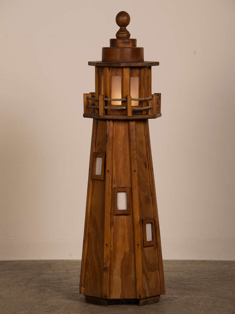 Vintage Handmade Lighthouse Floor Lamp From France At 1stdibs