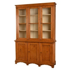 Antique English George III Style Pine Bookcase or Display Cabinet, circa 1860