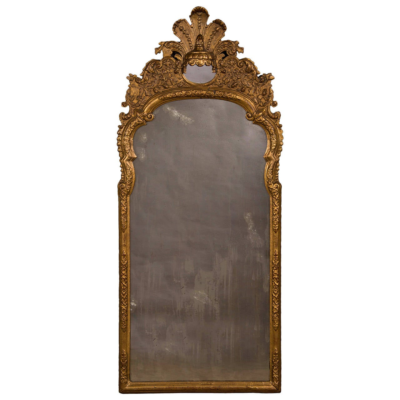 Arched gilt mirror at 1stdibs - Antique Italian Neoclassical Gilded Mirror Circa 1790 1