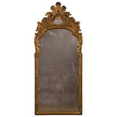 Antique Italian Neoclassical Gilded Mirror, circa 1790