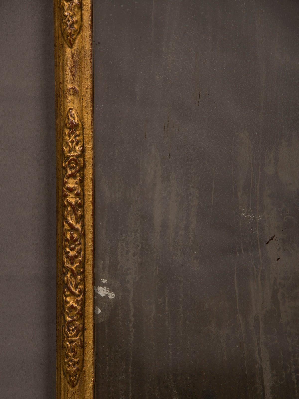 Late 18th Century Antique Italian Neoclassical Gilded Mirror, circa 1790 For Sale