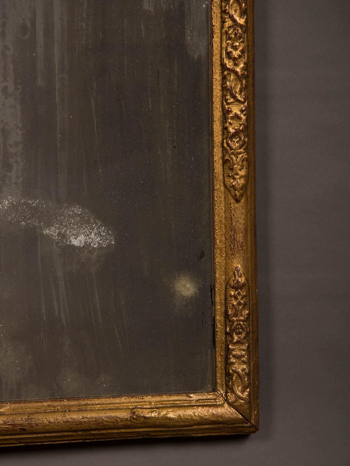 Antique Italian Neoclassical Gilded Mirror, circa 1790 For Sale 1