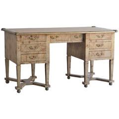 """Vintage French """"Mazarin"""" Desk of Burl Ashwood and Gilt Metal Mounts, circa 1930"""