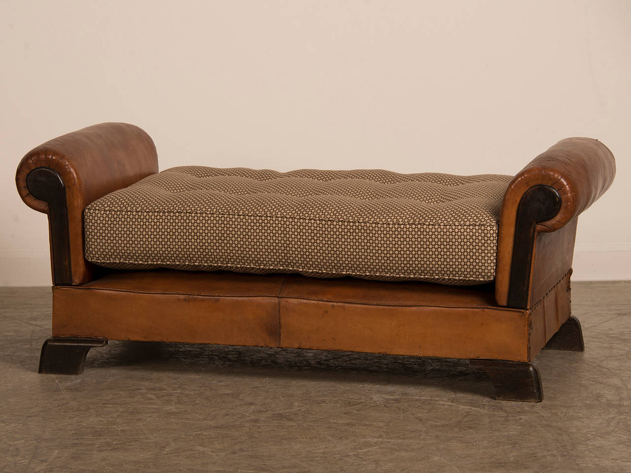 Art Deco Leather Day Bed France Circa 1930 At 1stdibs
