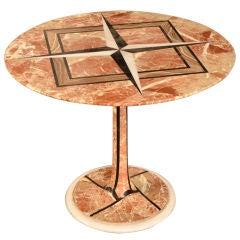 """Vintage Italian Mid-Century Modern Marble """"Tulip"""" Table, Milan, circa 1950"""
