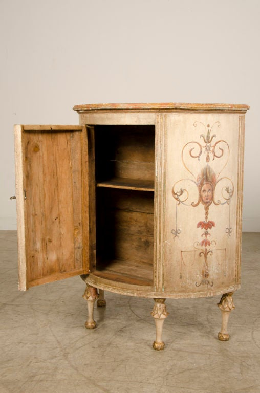 A pair of demi lune cabinets from italy at 1stdibs for 1880 kitchen cabinets