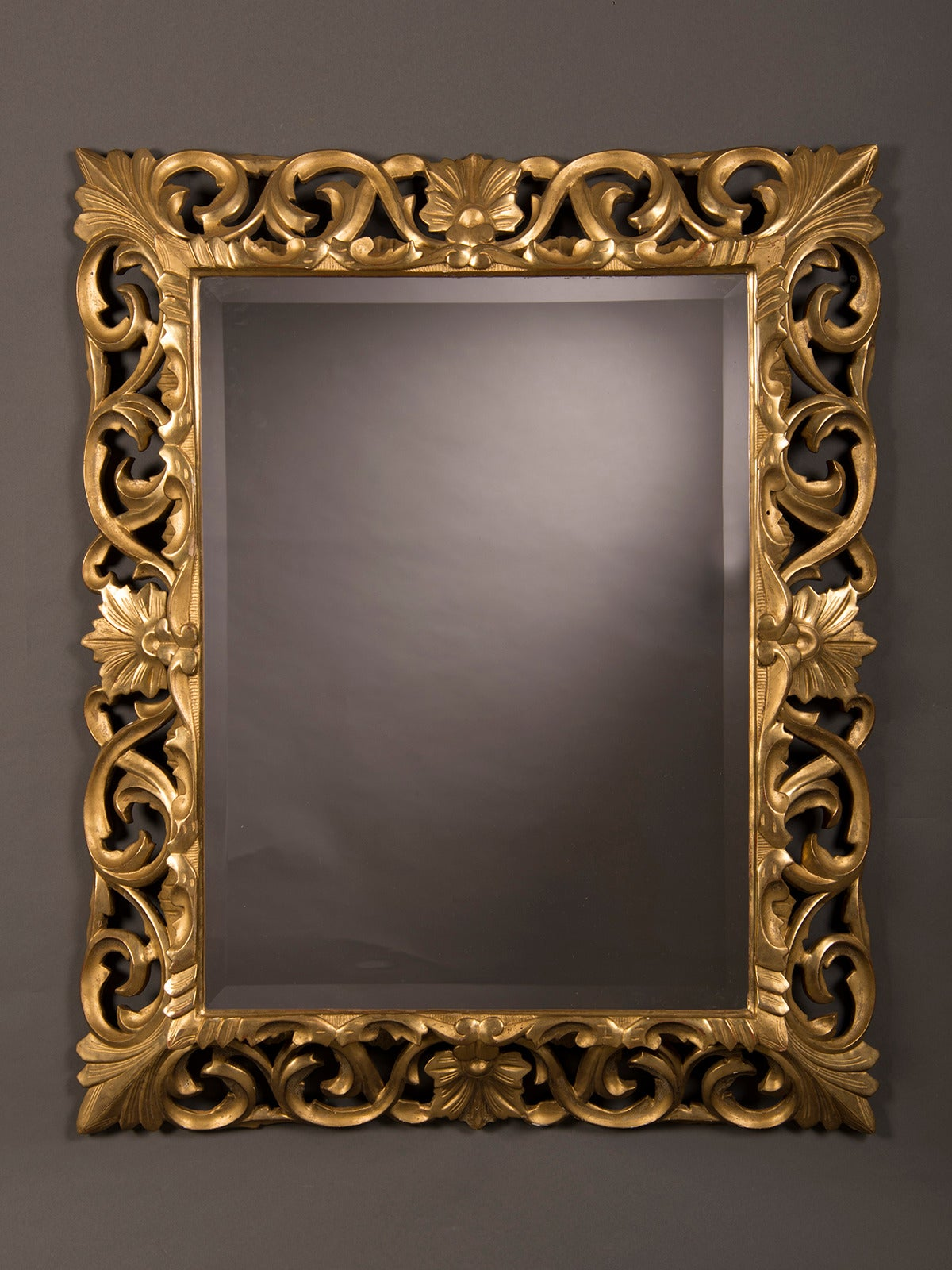 Antique french baroque style gold beveled mirror 1875 35 for Antique french mirror