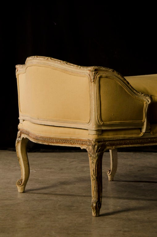A beautiful louis xv style chaise longue from france c for Chaises louis xv cannees
