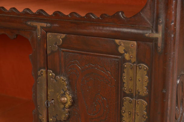 Antique chinese scholar 39 s cabinet kuang hsu period circa for Chinese furniture houston tx