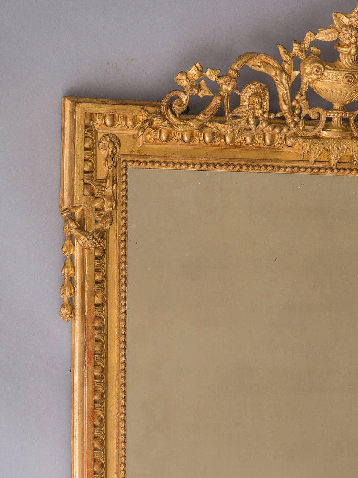 Antique French Napoleon Iii Style Gold Leaf Mirror Circa 1880 40