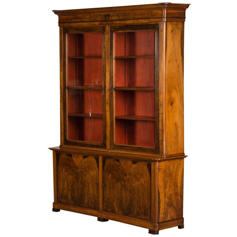 Napoleon iii period burl walnut bibliotheque france at 1stdibs - Bibliotheque 6 cases ...