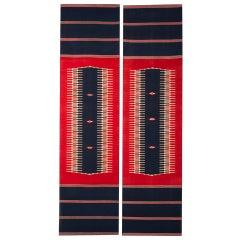 Pair of Enormous Art Deco Period Woven Vintage French Textiles, circa 1930