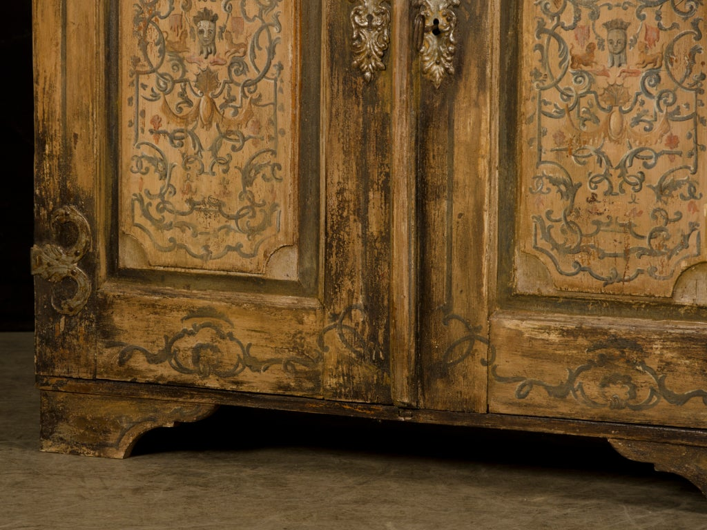 a baroque style two door painted buffet from france at 1stdibs. Black Bedroom Furniture Sets. Home Design Ideas