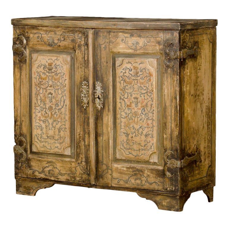 A baroque style two door painted buffet from france at 1stdibs - Buffet style baroque ...