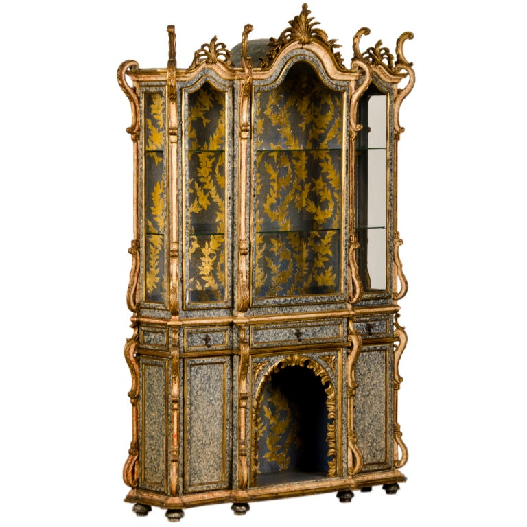 A baroque style vitrine display cabinet from portugal c - Resource furniture espana ...