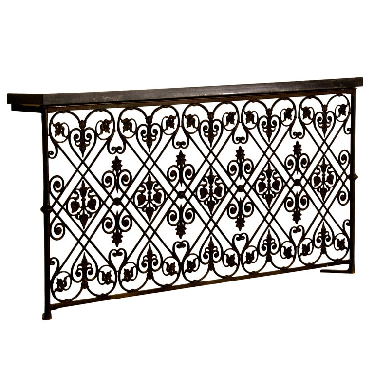 A sensational cast iron balcony railing from france for French balcony railing