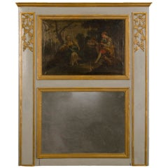 Louis XVI Period Antique French Trumeau Mirror, circa 1790