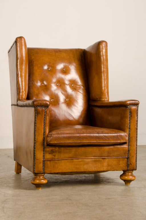 An Art Deco period leather armchair from France c. 1930 image 3