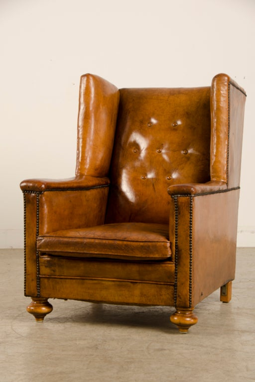 An Art Deco period leather armchair from France c. 1930 image 4