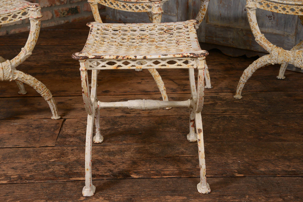 Early 20th Century French Iron Stools For Sale