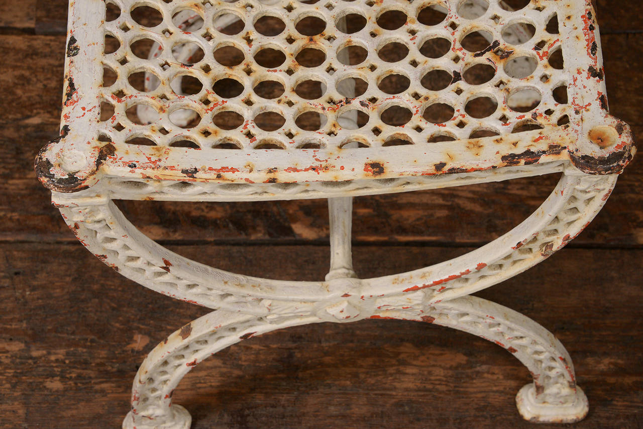 French Iron Stools For Sale 2