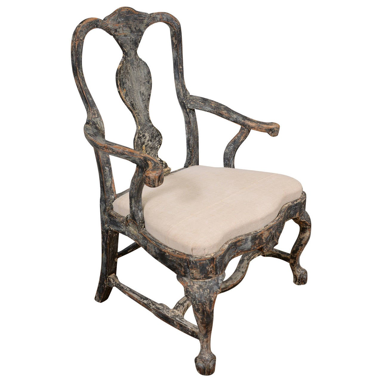 Swedish Rococo Armchair For Sale