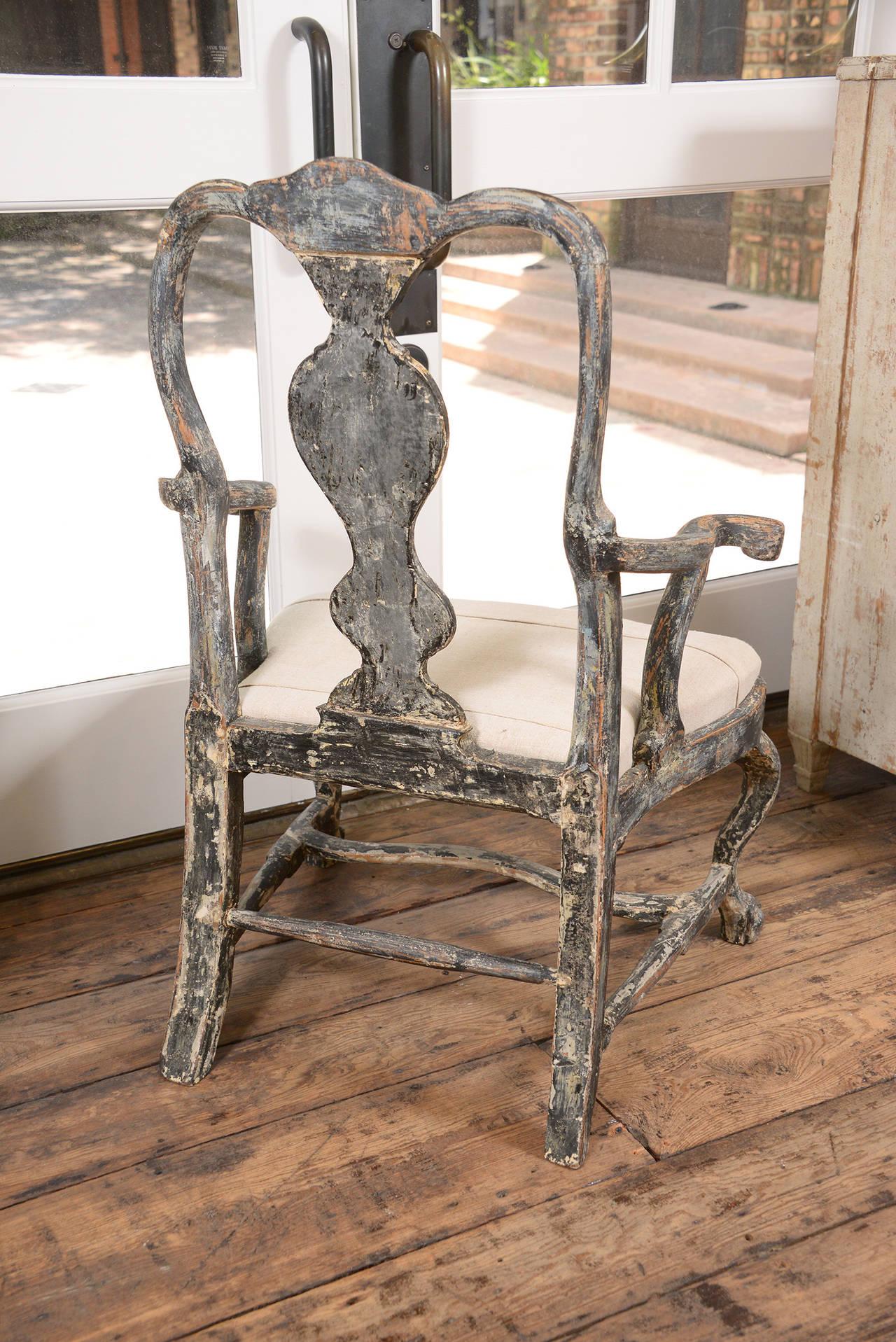 Swedish Rococo Armchair at 1stdibs