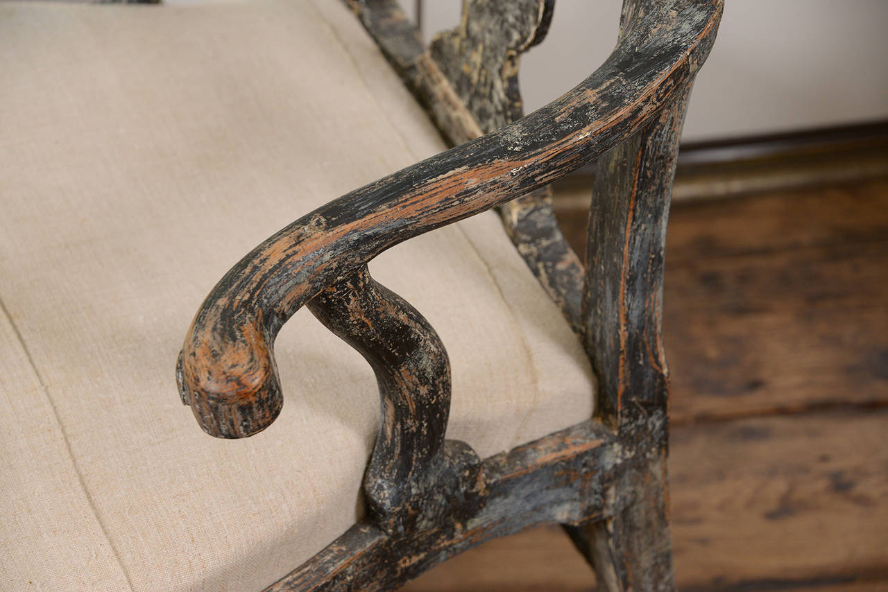 Swedish Rococo Armchair For Sale 3