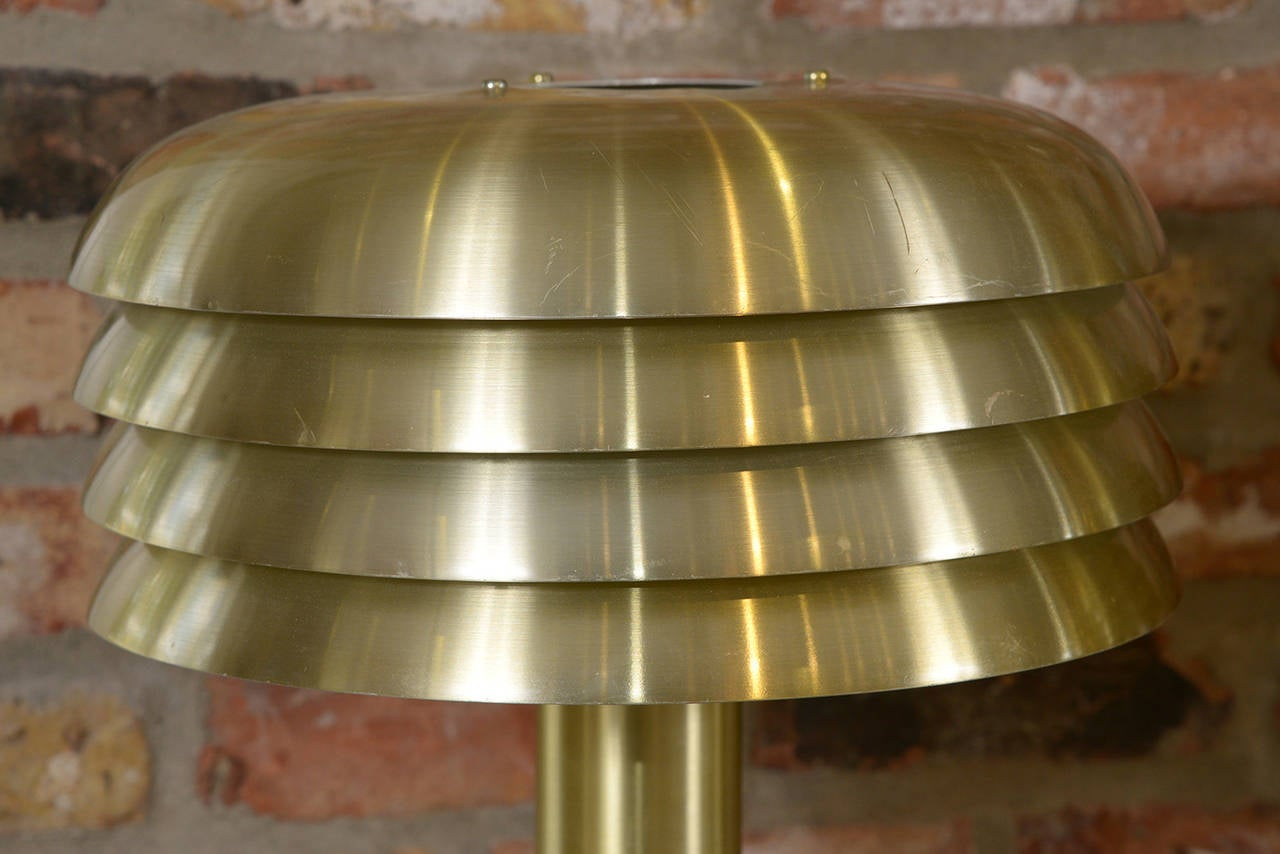 Swedish Hans Agne Jacobson Brass Lamps For Sale