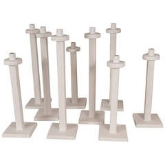 Contemporary Plaster Candlesticks