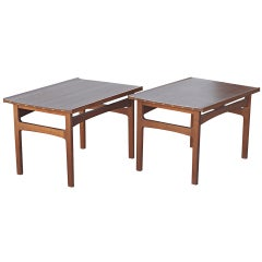 Pair Of Folke Ohlsson For Dux Walnut End Tables