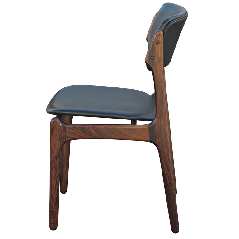 Erik Buch For O.D. Mobler Danish Rosewood Side Chair For Sale at ...